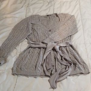 Boston Proper Sweater Gray Large